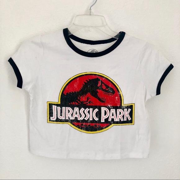 5e54383b3275a Forever 21 Tops - Jurassic Park Crop Top